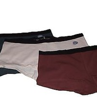GapBody Ultra Low Rise Cotton Blend Mix Colors Solid Boy Shorts Panties SZ M X3