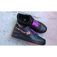 "Mamba Fury Air Force 1 pays tribute to ""Kobe Bryant"" casual sneakers shoes"