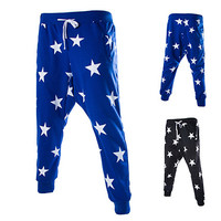 Men's Street Style Star Prints Harem Sweat Jogger Pants