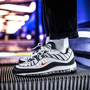 Nike Air Max 98 Retro Running Shoes ¡°bLUE WIHTE YELLOW¡±640744-064