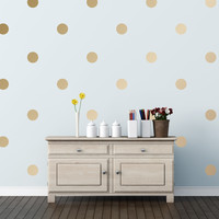 "3"" Polka Dots Wall Decals in Orange"