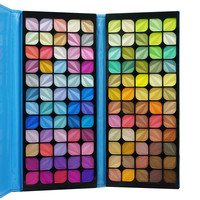 New High Quality Professional Pro 120 Shimmer Color Cosmetic Makeup Set Palette Bright Eye shadow Brush in Noble Handbag B008-BP