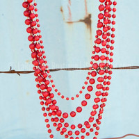 THE BRAZOS NECKLACE IN RED - Default