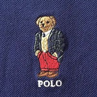POLO RALPH LAUREN MEN'S BEAR NAVY BLUE POLO SHIRT SIZE 3XB BIG MSRP $125