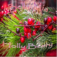 Holly-Berry Natural Hand Poured Soy Candles