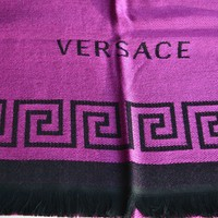 NEW GENUINE LARGE VERSACE WOOL SCARF / WRAP MADE IN ITALY WOMAN Gift