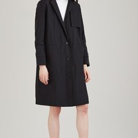 T by Alexander Wang Tech Poplin Suiting Hooded Trench Coat - WOMEN - JUST IN - T by Alexander Wang