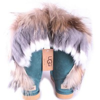 UGG Fashion Women Fur Wool Snow Boots Half Boots Shoes0