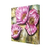 Pink Poppies by Cherie Roe Dirksen Stretched Canvas Prints