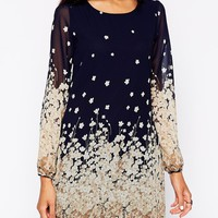 Yumi Border Print Shift Dress at asos.com