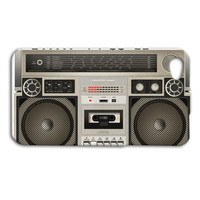Boombox Stereo Radio Old School Custom Case for iPhone 5/5s and iPhone 4/4s