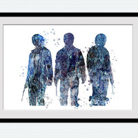 Harry Potter trio watercolor art print Harry Potter colorful poster Harry Potter art decor Home decoration Kids room art Nursery decor W530