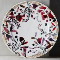 Harvest Foliage Dinner Plate by Anthropologie in Multi Size: Dinner Plate Vests