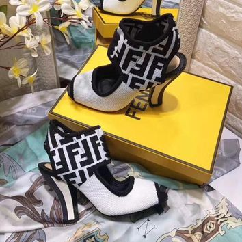 """FENDI"" autumn and winter new mesh booties"