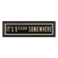 Spicher and Company 'It's 5 o'Clock Somewhere' Vintage Look Sign Artwork
