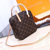 Kuyou Lv Louis Vuitton Fashion Women Men Gb29611 M47500 Nano Noe Makeup Hand B/l Shoulder Bag 20*20*8cm