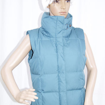 Eddie Bauer Goose Down Winter Puffer Vest in Teal