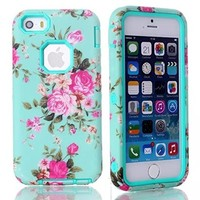 iPhone 5S Case ,iPhone 5 Case ,Kaseberry Carryberry Crystal Diamond Bling Hybrid Cover Case for iPhone5 5s 5G