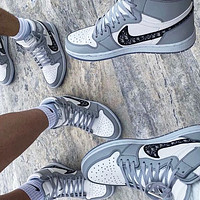 Dior x Nike Sb Dunk Low Pro Air jordan 1 AJ 1 Men and women board shoes casual sports shoes sneakers High-top gray