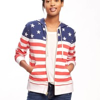 Relaxed Flag Hoodie for Women | Old Navy