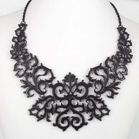 Laced Black Widow necklace