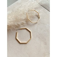Octagon Hoops, Gold