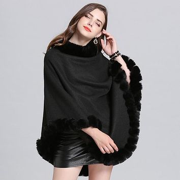 Pullover Poncho Knitted Outerwear