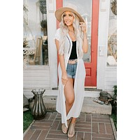 Risk It All Flowy Kimono (White)