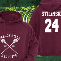 Stiles Stilinski 24 Teen Wolf Custom Crewneck Hoodie Sweatshirt for Unisex adult made by USA