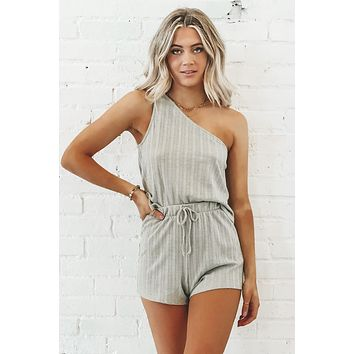 Cozy But Make It Classy One Shoulder Top And Short Set