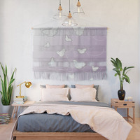 Butterflies | lilac color Wall Hanging by edrawings38