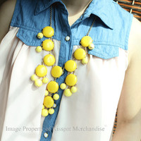 Yellow Bubble Necklace, J Crew Style Jewelry