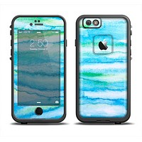 The Abstract Oil Painting Lines Skin Set for the Apple iPhone 6 LifeProof Fre Case