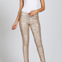 Kourtney Sequin Leggings - Gold