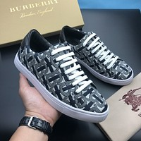 BURBERRY Men Fashion Boots fashionable Casual leather Breathable Sneakers Running Shoes06230qh