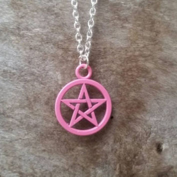 Pentacle necklace, pentacle pendant, Wiccan necklace, witches necklace, pagan jewellery, ritual jewellery, Yule gift idea, pagan gifts