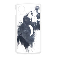 Wolf Song 3 White Hard Plastic Case for Google Nexus 5 by Balazs Solti