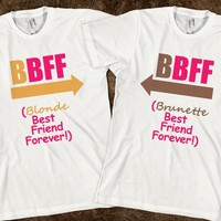 Matching Blonde and Brunette Best Friends Forever T-Shirts, Tanks, Sweatshirts, Hoodies and more - Diamond Images