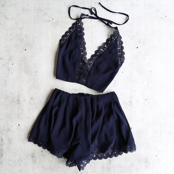 del carmen two piece set - navy