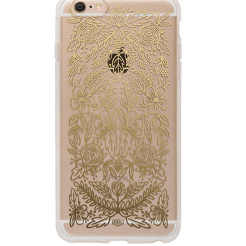 Gold Floral Lace iPhone 6 Plus Case