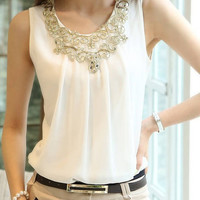 Summer Sleeveless Chiffon Blouses