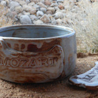 Personalized Dog Bowl with a Free Magnet by Drippingglazes on Etsy