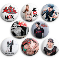 Machine Gun Kelly Pinback Buttons Badge 1.25 inches (Set of 8) NEW