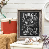 Give Thanks to the Lord - Print