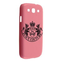 Juicy Couture Rubber Pink Samsung Galaxy S3 or SIII Hardshell Case