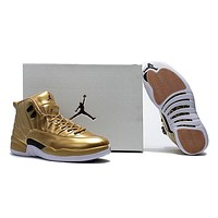 Air Jordan 12 Pinnacle Gold Aj 12 Retro Men Basketball Shoes