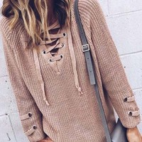 Stevie Lace-Up Sweater
