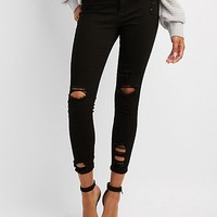 Cello Destroyed Cropped Skinny Jeans | Charlotte Russe
