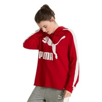 puma archive logo t7 women red hoody-1