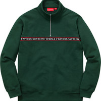 Supreme World Famous Half Zip Sweat